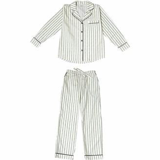 Phriya Women's Green Palmarola Long Pajama Set