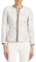 Lafayette 148 New York Women's Damien Plantain Jacquard Jacket