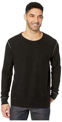 Mod-o-doc Carpenteria Long Sleeve Mini Waffle Crew (Black) Men's Sweatshirt