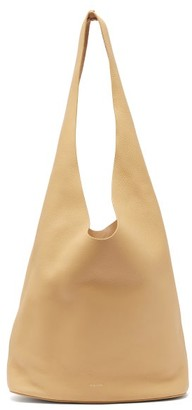 The Row Bindle Three Grained-leather Tote Bag - Beige