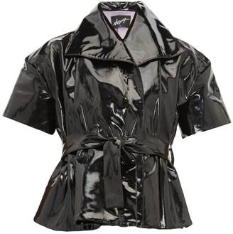 Elzinga - Belted Pvc Top - Black