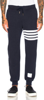 Thom Browne Distressed 4 Bar Stripe Sweatpants