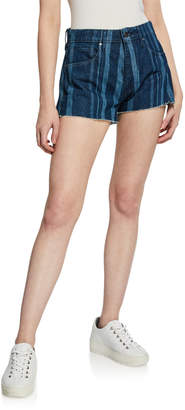 Levi's High-Rise Striped Denim Cutoff Shorts