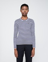 Comme des Garcons Black Heart Play Striped Long Sleeve T-Shirt