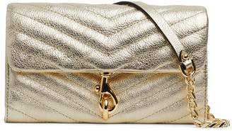 Rebecca Minkoff Edie Quilted Metallic Leather Chain Wallet