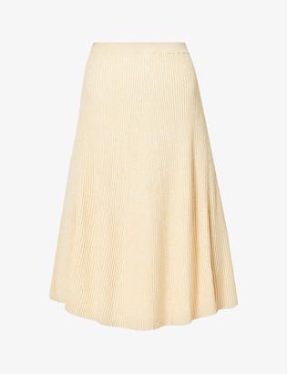Samsoe & Samsoe Bonnie high-waist knitted midi skirt