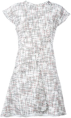 Chanel Pre Owned Cap Sleeve Tweed Dress