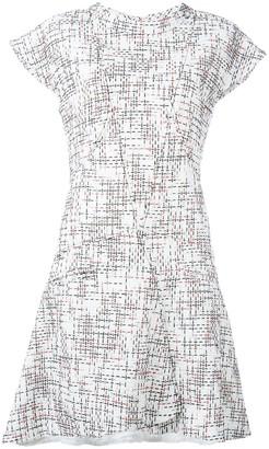 Chanel Pre Owned Cap Sleeve Tweed Dress