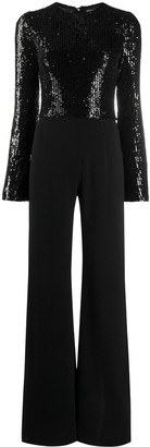 Galvan Modern Love sequin jumpsuit