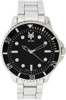 Zoo York Mens Silvertone And Black Bracelet Watch