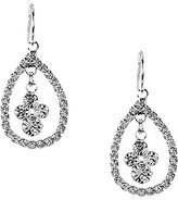 Cezanne Rhinestone Open Teardrop Earrings