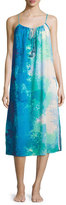 Natori Floral Stream Printed Cotton Gown