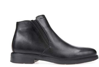 Geox U Dublin Leather Ankle Boots with Small Heel