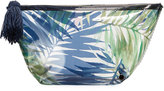 Neiman Marcus Transparent Palm-Tree-Print Cosmetic Pouch