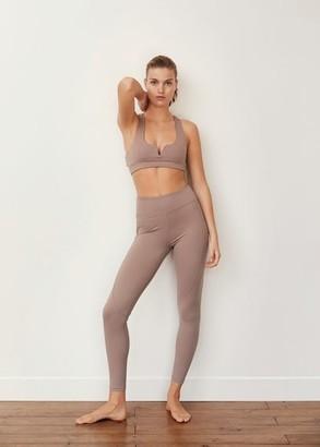 MANGO Neoprene laser cut leggings