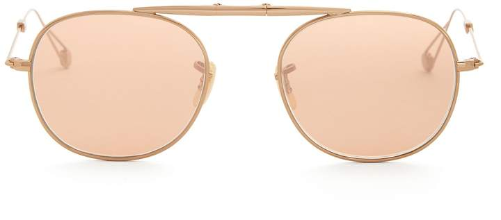 Garrett Leight Van Buren 49 foldable aviator sunglasses