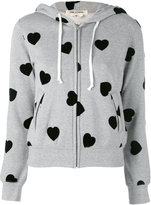 Comme des Garcons polka dot zipped hoodie - women - Cotton - M