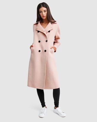 Belle & Bloom Dream Lover Loose Fit Wool Blend Coat