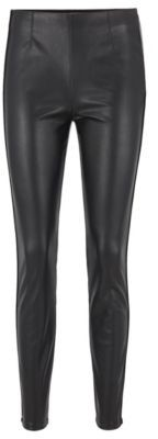 HUGO BOSS Skinny-fit leggings in faux leather with piping details
