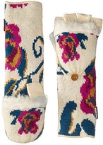 Muk Luks Women's Happy Glam Per Long Flip Mittens-Secret Floral