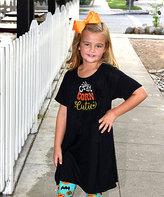 Beary Basics Black 'Candy Corn Cutie' Tunic Dress - Toddler & Girls