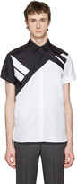 Neil Barrett White & Black Retro Modernist Shirt