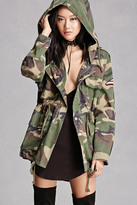 Forever 21 FOREVER 21+ Space Patch Camo Utility Jacket