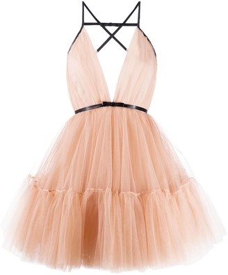 BROGNANO Tulle Bow Dress