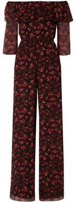 Rachel Zoe Samura Off-the-shoulder Floral-print Silk-georgette Jumpsuit