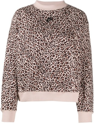 Nike Animal-Print Branded Sweatshirt