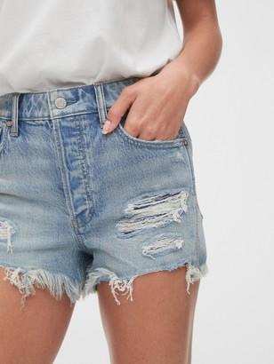 Gap High Rise Destructed Curvy Cheeky Shorts
