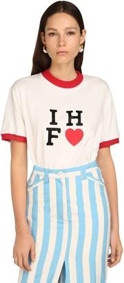 Sunnei Ihf <3 Print Cotton Jersey T-shirt