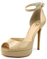 Vince Camuto Lillith Women US 9 Nude Peep Toe Heels