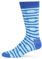 Happy Socks Crew Patterned Cotton-Blend Mid-Calf Socks