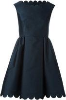RED Valentino scallop dress - women - Silk/Polyester - 44