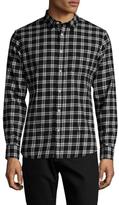 Slate & Stone Plaid Spread Collar Sportshirt