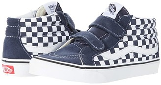 Vans Kids SK8-Mid Reissue V (Big Kid) ((Checkerboard) India Ink/True White) Boys Shoes