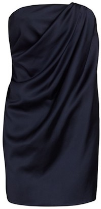 Marina Moscone Draped Satin Bustier