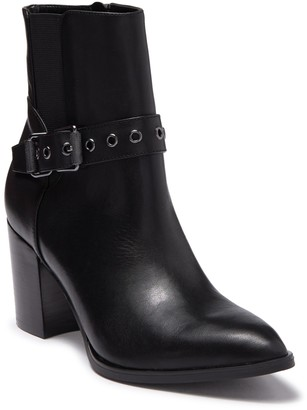 Nine West Giah Leather Buckle Strap Boot