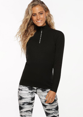 Lorna Jane Half Zip Iconic Long Sleeve Top
