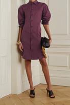 Thumbnail for your product : Bottega Veneta Stretch-cotton Poplin Shirt Dress - Burgundy