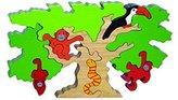 Wooden Amazone Animal Tree Puzzle by SRI Toys