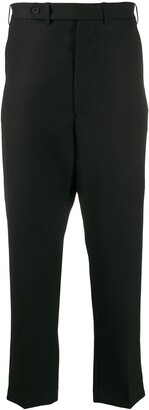 Haider Ackermann Drop-Crotch Cropped Trousers