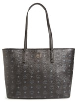 MCM Medium Anya Tote - Black