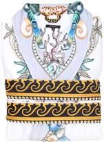 Versace Les Étoiles De La Mer Printed Silk Robe