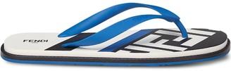 Fendi Logo-Print Flip-Flops