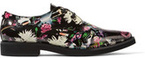 McQ by Alexander McQueen Floral-Print Patent-Leather Brogues