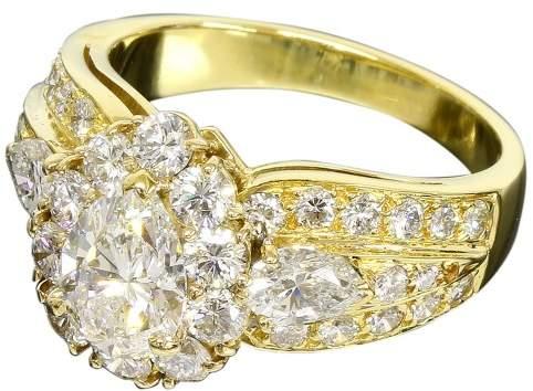 Van Cleef & Arpels 18K Yellow Gold & Diamond Ring Size 6.25