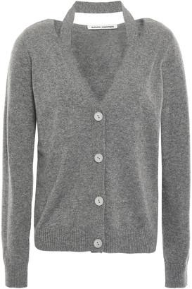 Autumn Cashmere Cutout Melange Cashmere Cardigan