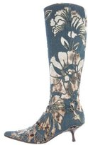 Roberto Cavalli Denim Knee-High Boots